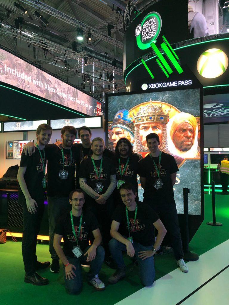 Part of the Forgotten Empires dev team at Gamescom