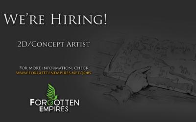 We're Hiring a 2D/Concept Artist!
